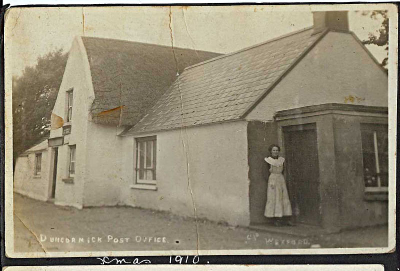 1910 Duncormick Post Office, Christmas, Helena Murphy, Bannow Historical Society Wexford Calendar 2008