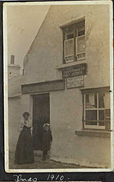 1910 Duncormick Post Office, Christmas, Miss Sinnott and unkown child, Bannow Historical Society Wexford Calendar 2008